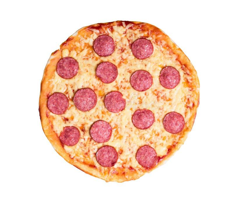Καυτή σπιτική Pepperoni πίτσα στοκ φωτογραφία με δικαίωμα ελεύθερης χρήσης