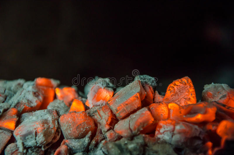 Καυτοί άνθρακες στοκ φωτογραφία με δικαίωμα ελεύθερης χρήσης