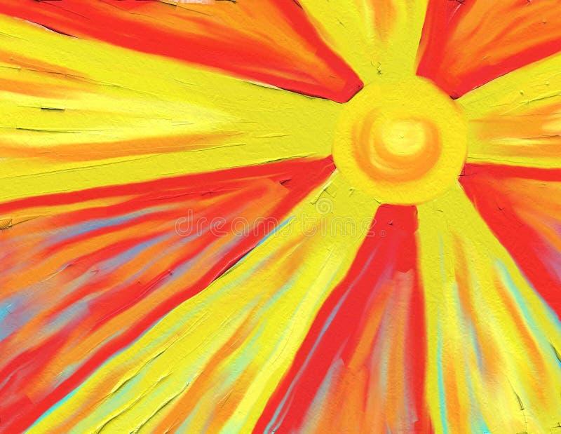 καυτός ήλιος ακτίνων απεικόνιση αποθεμάτων