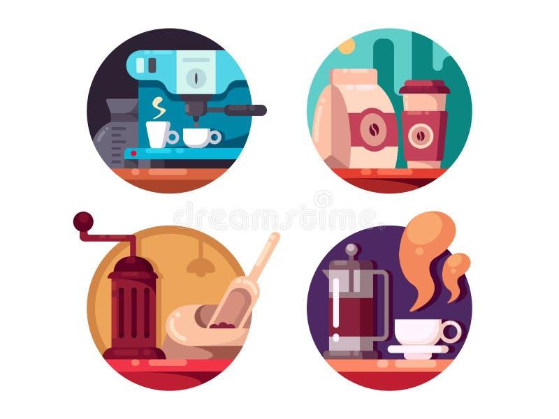 Καυτός καφές ενδυνάμωσης διανυσματική απεικόνιση