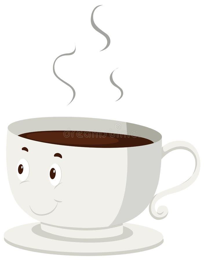 Καυτός καφές σε ένα φλυτζάνι διανυσματική απεικόνιση