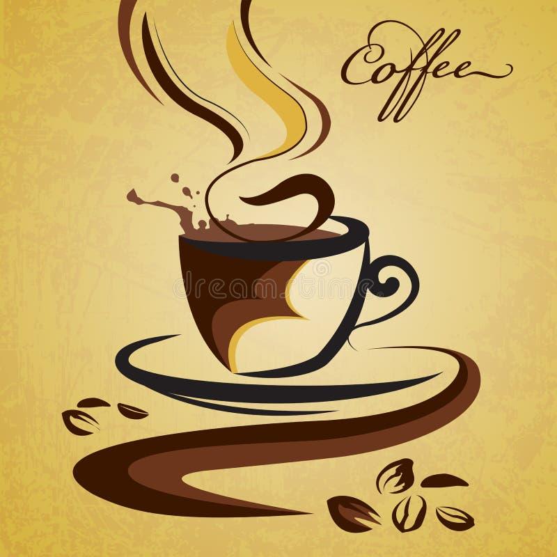 Καυτός καφές απεικόνιση αποθεμάτων