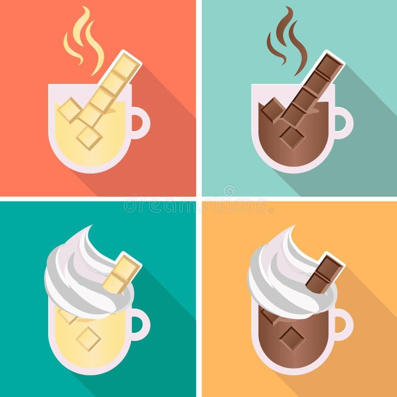 καυτός κρέμας σοκολάτα&sigma διανυσματική απεικόνιση