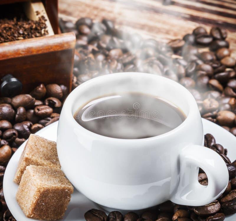 καυτός πίνακας καφέ στοκ εικόνες