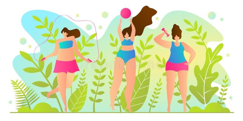 Καυτός χρόνος διακοπών για τη διανυσματική απεικόνιση κοριτσιών διανυσματική απεικόνιση