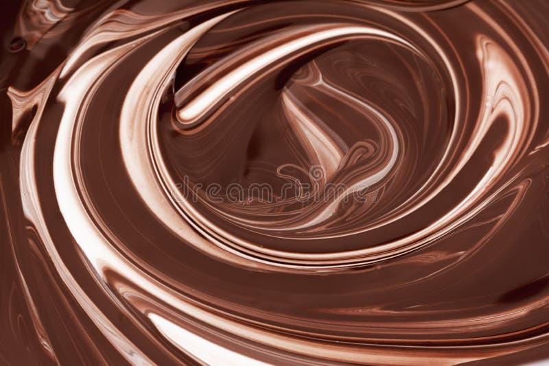 Καυτό αφηρημένο υπόβαθρο σοκολάτας καφετί, υγρό απεικόνιση αποθεμάτων