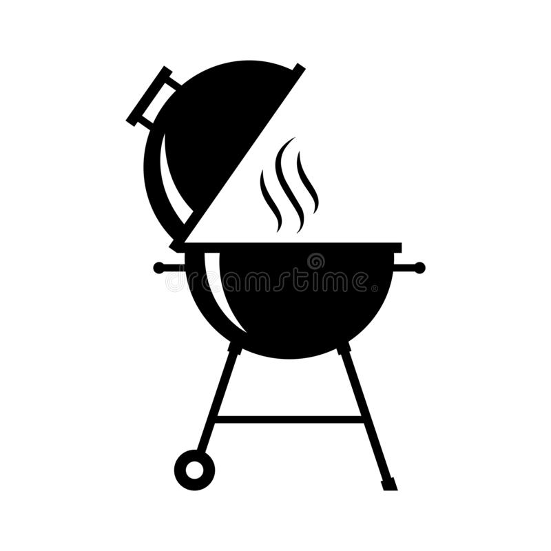 Καυτό γραφικό μαύρο σύμβολο σχαρών διανυσματική απεικόνιση
