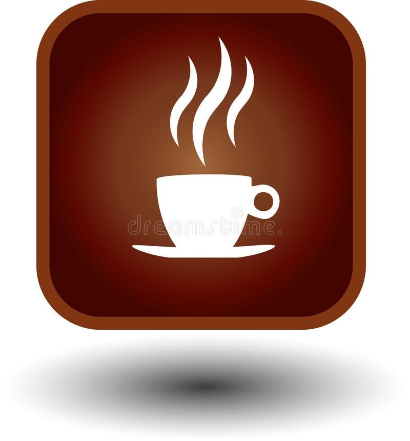 καυτό εικονίδιο καφέ διανυσματική απεικόνιση