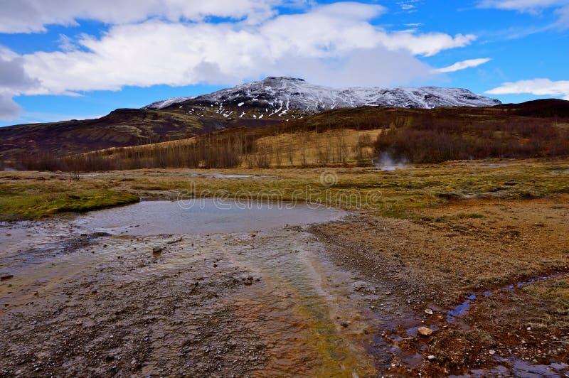 Καυτό ελατήριο Ισλανδία στοκ φωτογραφίες