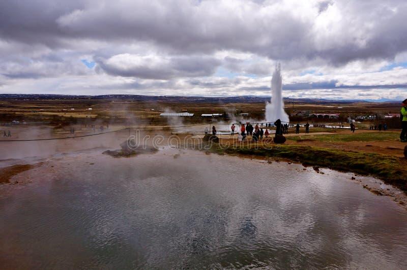 Καυτό ελατήριο Ισλανδία στοκ φωτογραφία