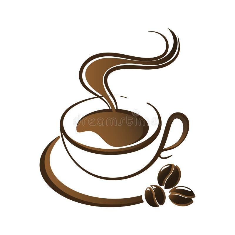 Καυτό διάνυσμα φλυτζανιών καφέ απεικόνιση αποθεμάτων