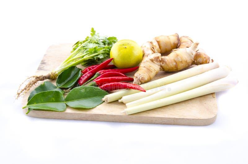 Καυτό και πικάντικο συστατικό τροφίμων για τα ταϊλανδικά τρόφιμα στοκ εικόνες