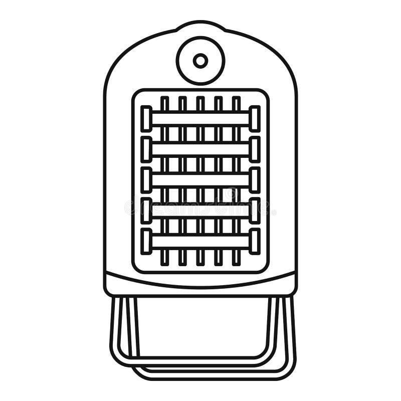 Καυτό μικρό εικονίδιο θερμαστρών αερίων διά μεταφοράς, ύφος περιλήψεων απεικόνιση αποθεμάτων