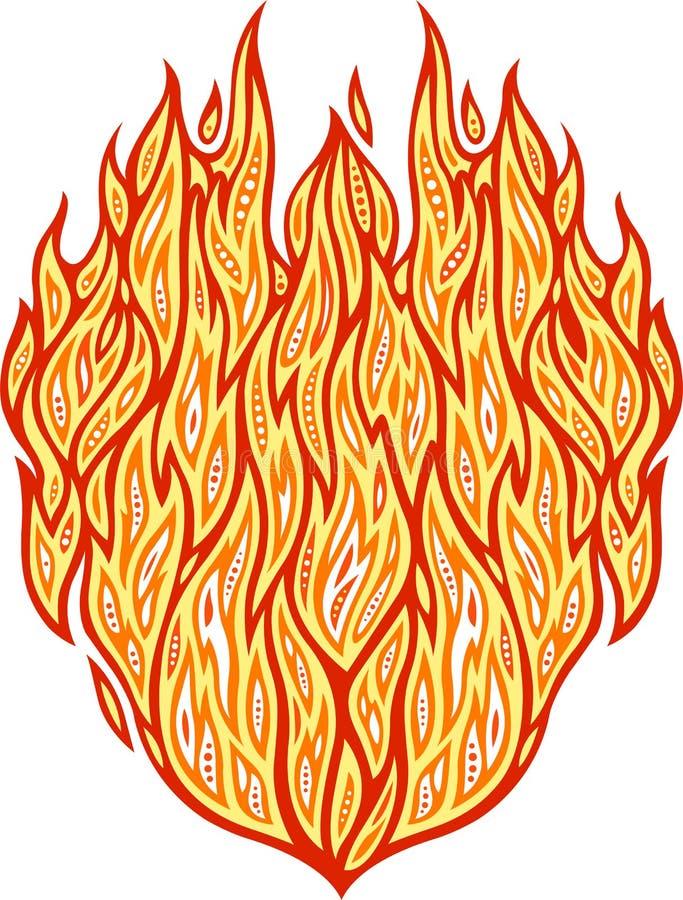 Καυτό σχέδιο πυρκαγιάς ελεύθερη απεικόνιση δικαιώματος