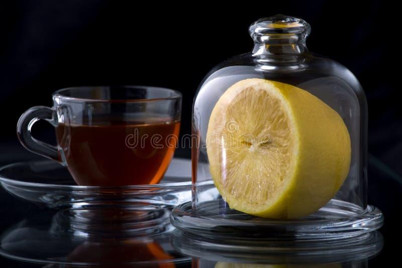 Καυτό τσάι πιπεροριζών λεμονιών στοκ φωτογραφία