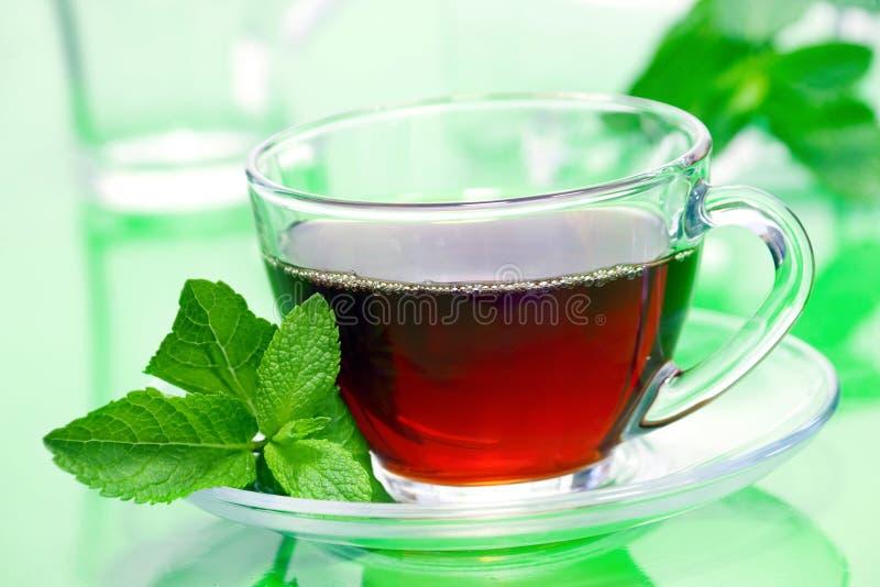 καυτό τσάι ποτών στοκ φωτογραφίες