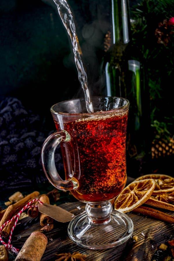 Καυτό χειμερινό ποτό φθινοπώρου στοκ εικόνα