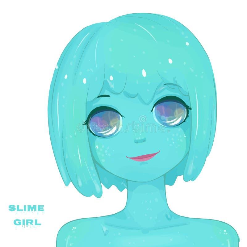 Καυτό slime κορίτσι απεικόνιση αποθεμάτων