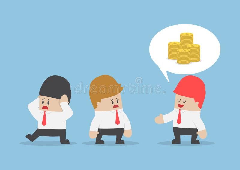 Καυχησιάρικη συζήτηση επιχειρηματιών για τον πλούτο του απεικόνιση αποθεμάτων
