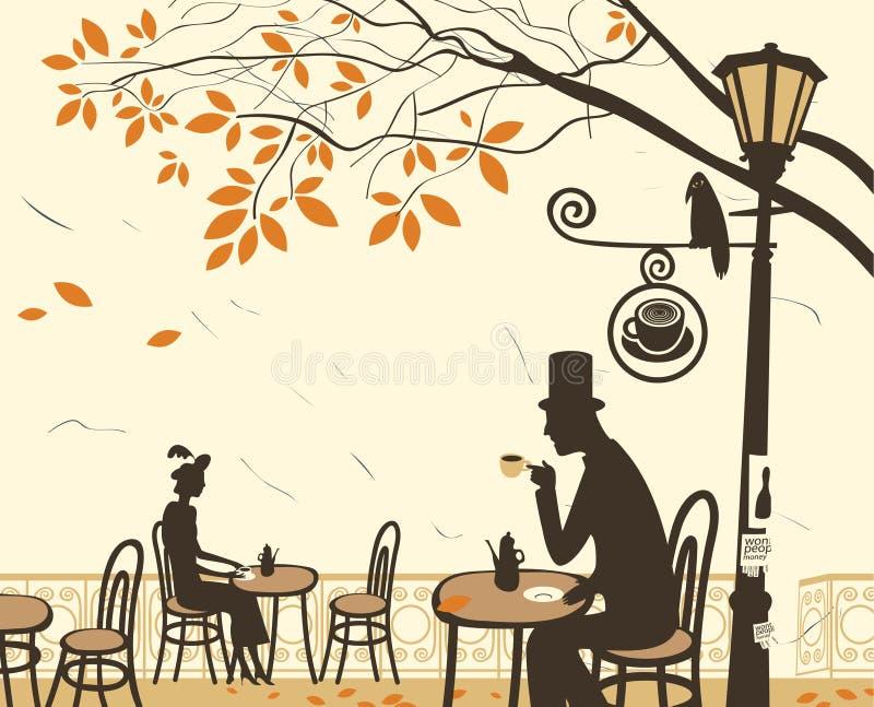 Καφέδες φθινοπώρου διανυσματική απεικόνιση