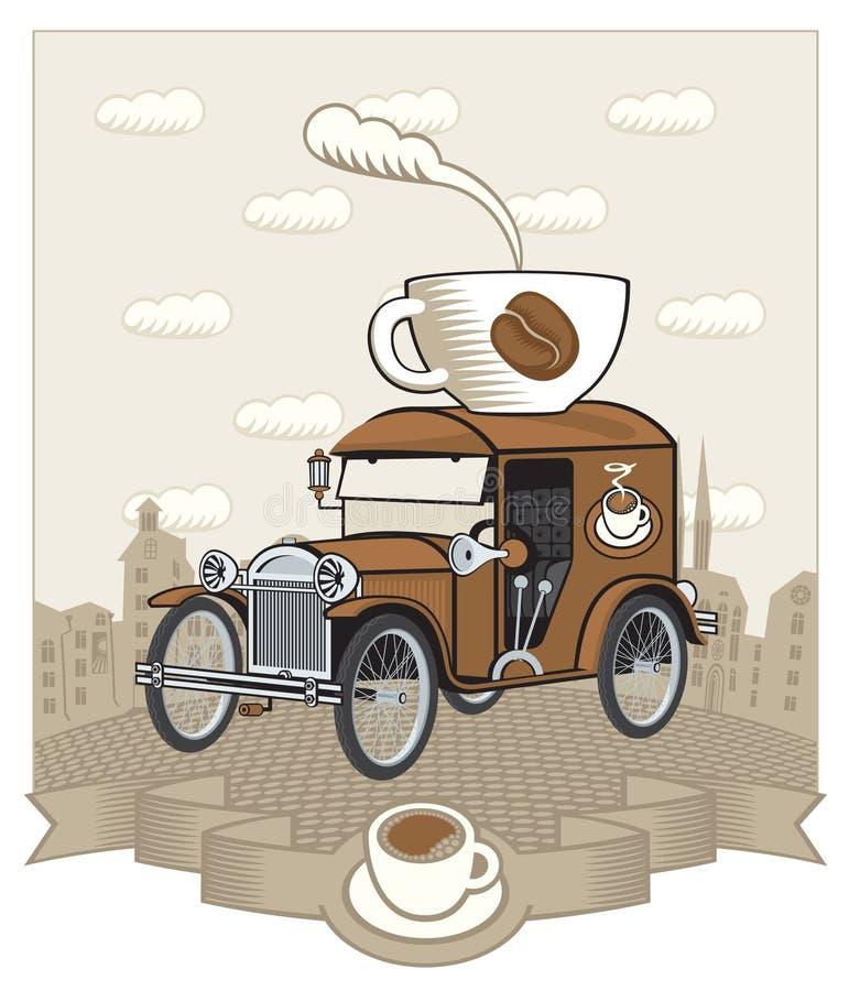 καφές αυτοκινήτων διανυσματική απεικόνιση