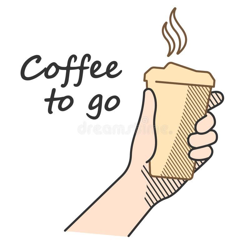 Καφές για να πάει ένα α στοκ φωτογραφίες