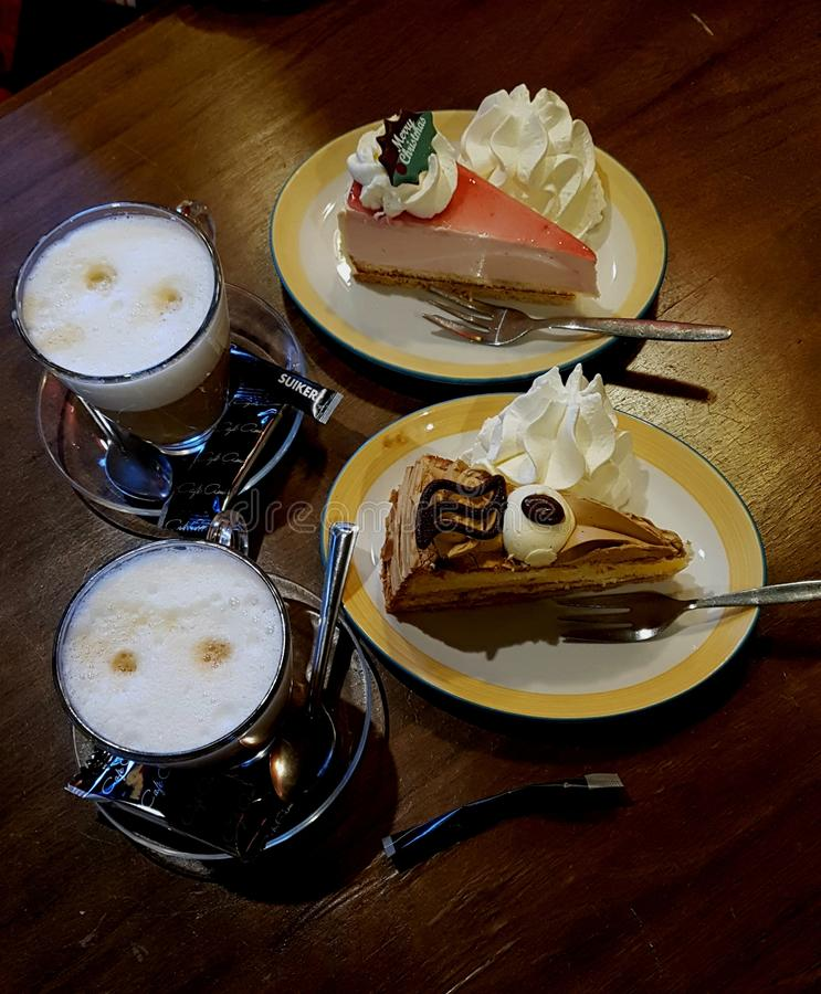 καφές δύο στοκ φωτογραφίες με δικαίωμα ελεύθερης χρήσης