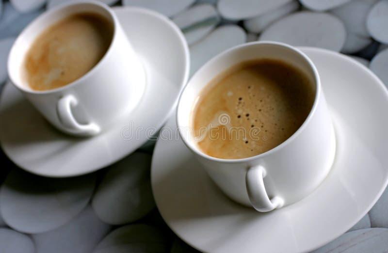 καφές δύο στοκ φωτογραφίες