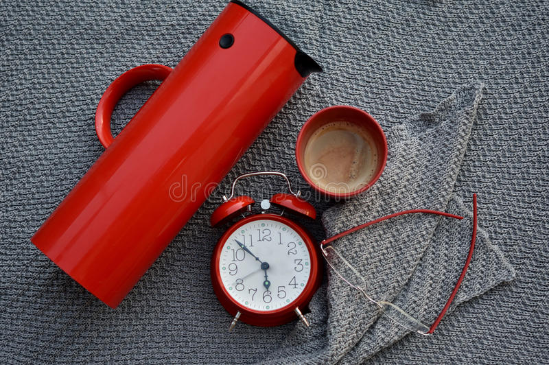 Καφές εγκαίρως στοκ φωτογραφία