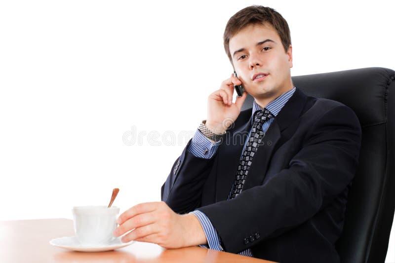 καφές επιχειρηματιών σπα&sigma στοκ εικόνα