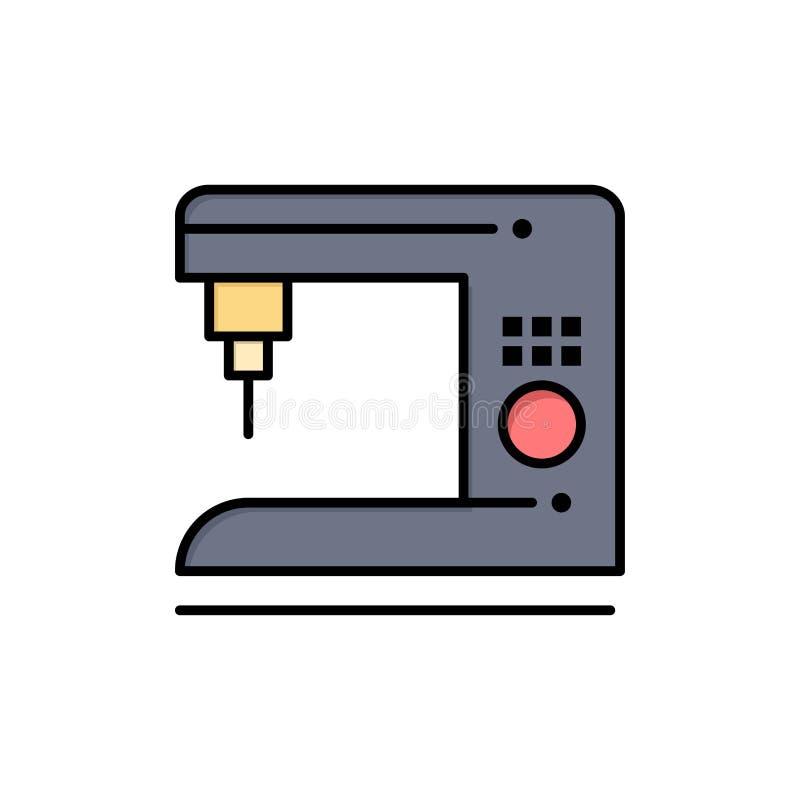 Καφές, ηλεκτρικός, σπίτι, επίπεδο εικονίδιο χρώματος μηχανών Διανυσματικό πρότυπο εμβλημάτων εικονιδίων διανυσματική απεικόνιση