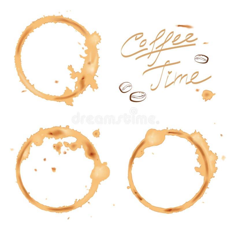 Καφές ιχνών ελεύθερη απεικόνιση δικαιώματος
