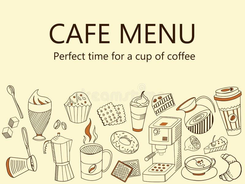Καφές καταλόγων επιλογής Διανυσματική απεικόνιση εμβλημάτων ποτών καφέ διανυσματική απεικόνιση