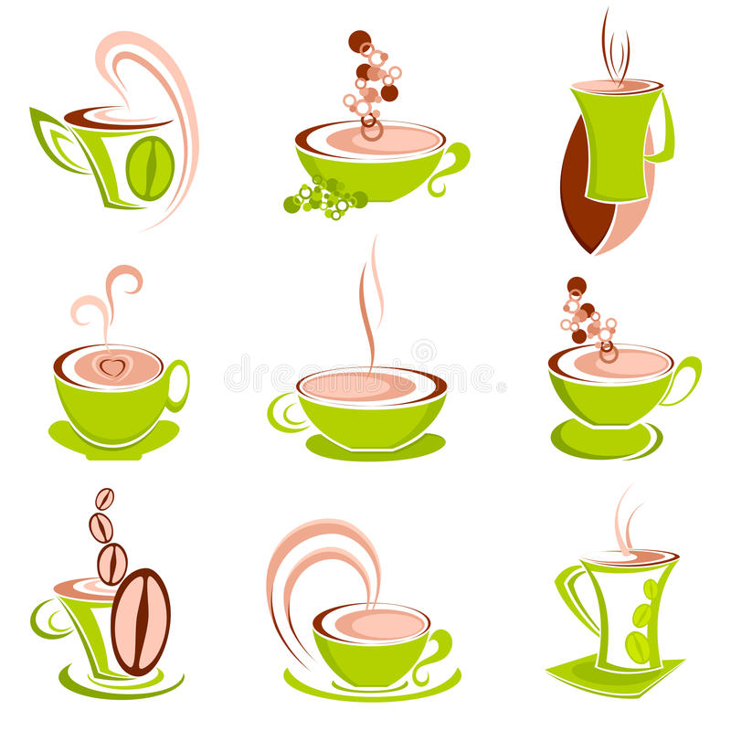 καφές καυτός διανυσματική απεικόνιση