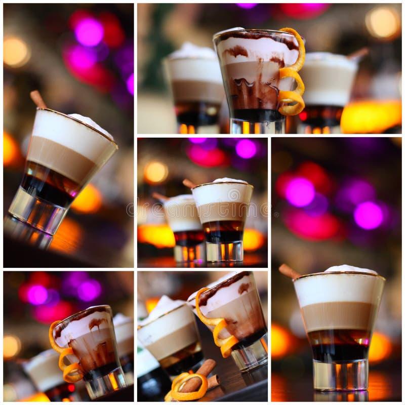 Καφές - κοκτέιλ συμβαλλόμενων μερών, Χριστούγεννα στοκ φωτογραφία με δικαίωμα ελεύθερης χρήσης