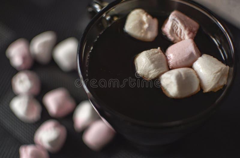 Καφές με marshmallows στοκ φωτογραφία με δικαίωμα ελεύθερης χρήσης