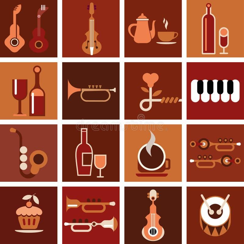 Καφές μουσικής - διανυσματική απεικόνιση διανυσματική απεικόνιση
