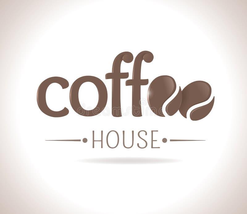 Καφές λογότυπων διανυσματική απεικόνιση