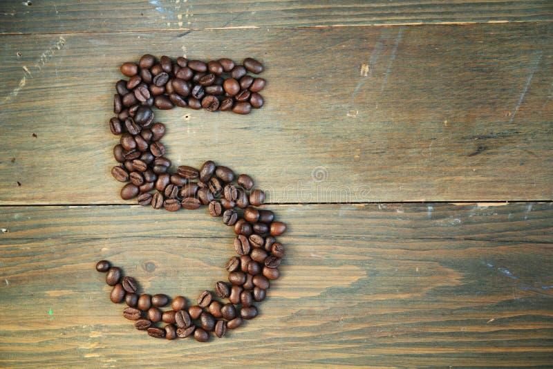 καφές πέντε αριθμός στοκ φωτογραφία με δικαίωμα ελεύθερης χρήσης