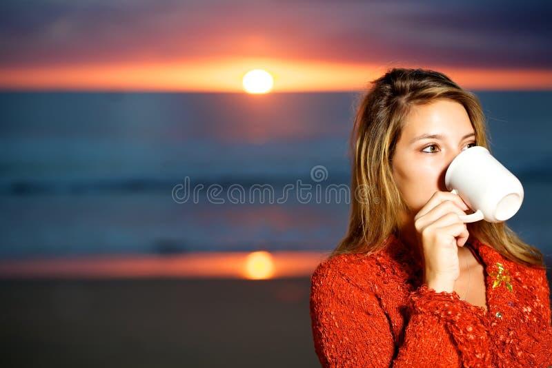 καφές παραλιών στοκ φωτογραφίες