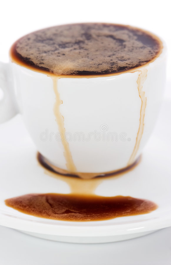 καφές που ανατρέπεται στοκ εικόνες