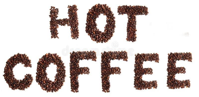 Καφές που απομονώνεται καυτός στοκ φωτογραφία