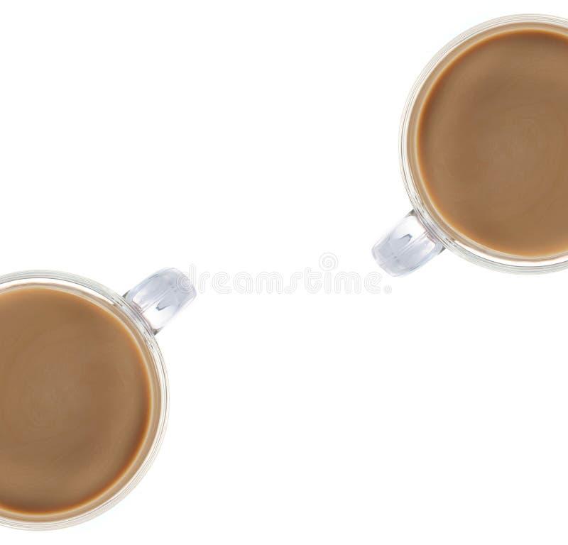 Καφές που απομονώνεται στο λευκό στοκ εικόνα