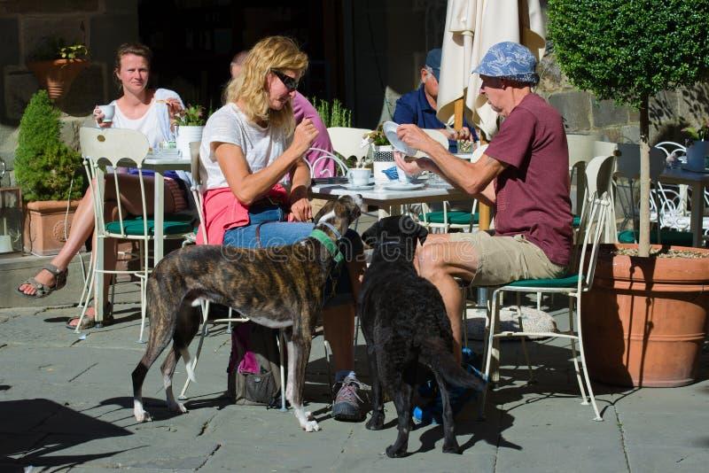 Καφές πρωινού σε έναν καφέ οδών στοκ φωτογραφία με δικαίωμα ελεύθερης χρήσης