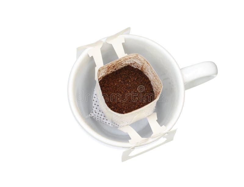Καφές σταλαγματιάς στο φλυτζάνι στοκ εικόνες με δικαίωμα ελεύθερης χρήσης