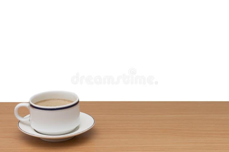 Καφές στον ξύλινο πίνακα στοκ φωτογραφίες με δικαίωμα ελεύθερης χρήσης