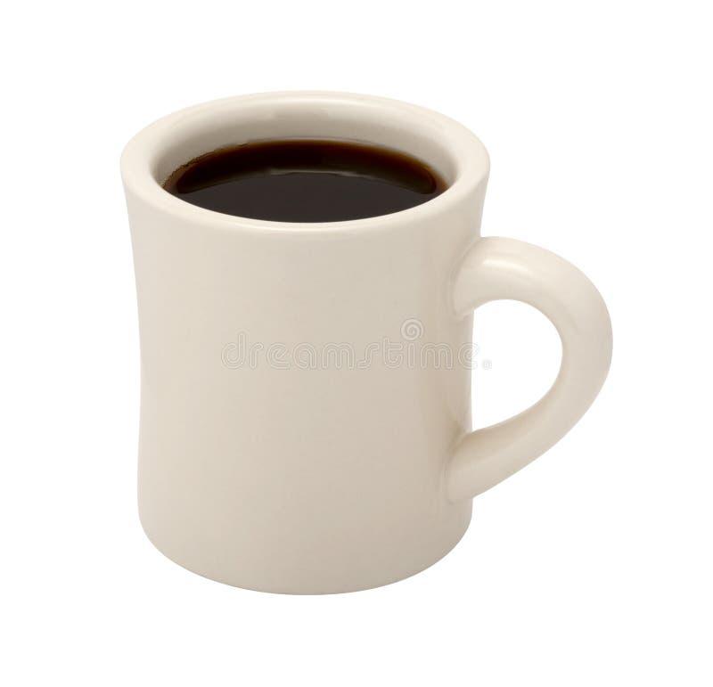 Καφές στο κλασικό άσπρο φλυτζάνι γευματιζόντων στοκ φωτογραφία με δικαίωμα ελεύθερης χρήσης