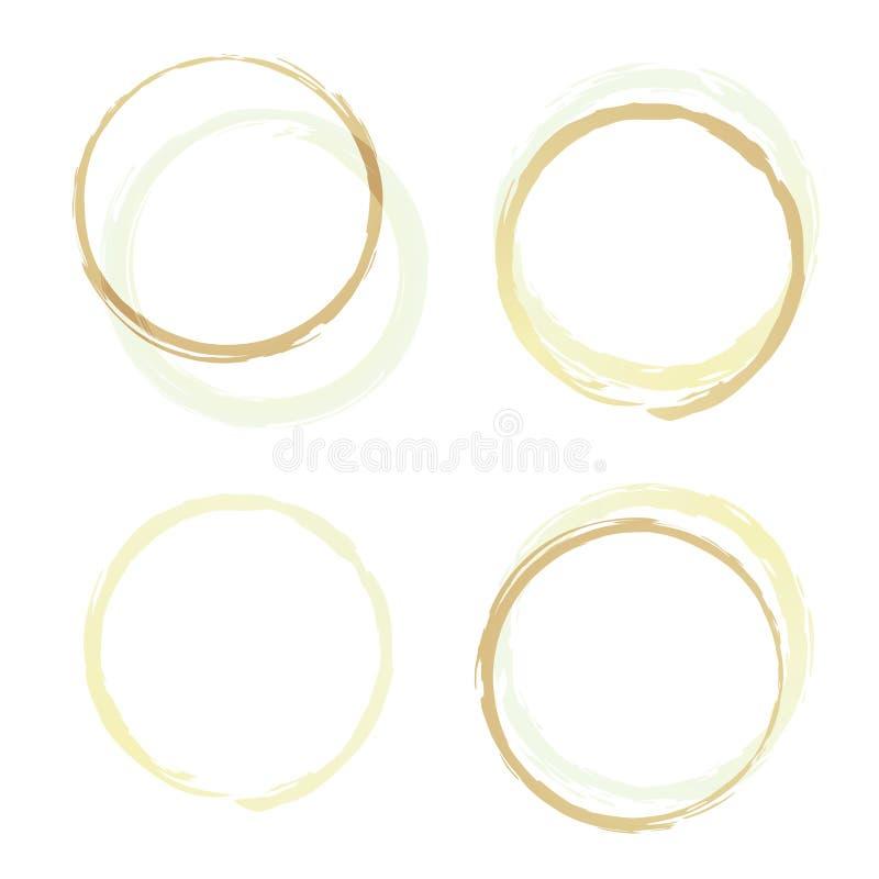 καφές τέσσερα δαχτυλίδι&alp ελεύθερη απεικόνιση δικαιώματος
