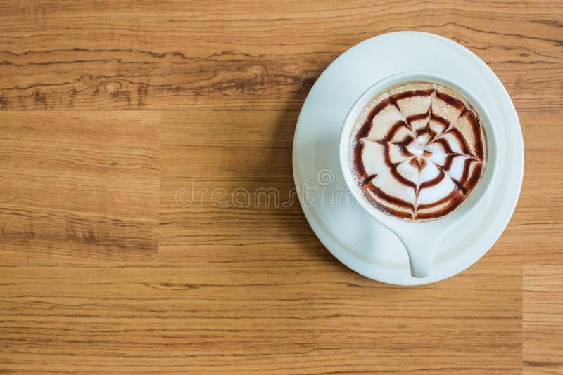 Καφές τέχνης Latte στοκ εικόνες με δικαίωμα ελεύθερης χρήσης