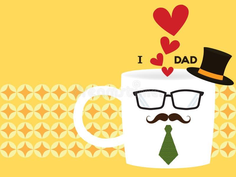 Καφές του μπαμπά διανυσματική απεικόνιση